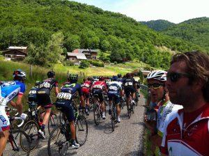 Spectators watching Tour de France