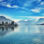 Lake Annecy in France. Popular with road cyclists.