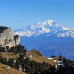 Views to Mont Blanc from the Chartreuse Massif